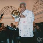Legendary Jazz Trombonist, Slide Hampton, Mannes College of Music, January, 2003.