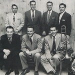 Billy Graham's ministry team in 1953, bottom left, George Beverly Shea, Billy Graham, trombonist: Cliff Barrows, top row left, Grady Wilson, Paul Mickelson, Tedd Smith, Lorne Sanny. (I thought that I invented praising the Lord with trombones until I saw this picture taken almost 60 years before I founded Conjunto Katharí).