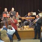 Conjunto Katharí performs at the Langston Hughes Community Library and Cultural Center Saturday, October 18, 2015.