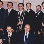 Top Row: Hiram Remón, Angel Rodriguez, Demetrios Kastaris, multi-Grammy Award winner, pianist, Oscar Hernández (leader of the Spanish Harlem Orchestra), Victor Rendón, Pete McGuinness. Bottom row: Alí Bello, Jerome Goldschmidt, Freddy Zanella.