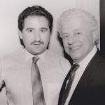 Left, Demetrios Kastaris, right Tito Puente, February 27, 1990.