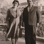 Penelope and Euripides Kastaris (Demetrios Kastaris's grandparents on his father's side). Photo taken in Athens (Galatsi section of Athens) Greece. Early 1950's. Both Penelope and Euripides spoke fluent Greek, Arabic, and German due to their travels.
