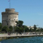 Lefko Pyrgo (White Tower) Thessaloniki, Greece.