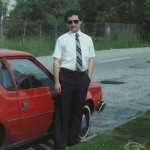 Demetrios Kastaris, outside of his house on graduation day from New York University, May 15, 1982.