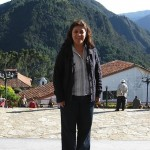 Hilda Kastaris in another section of the same mountain top of Monserrate, in Bogotá, Colombia.