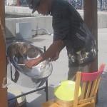 Steel drum musician in the Bahamas, August, 2014, photo credit, Demetrios Kastaris.