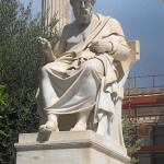 Statue of the famous and highly influential philosopher and mathematician, Plato, Athens, Greece, photo credit: Demetrios Kastaris, September, 2014.