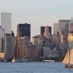 Sail boat in New York Harbor, June 2014, photo credit: Euripides Kastaris.
