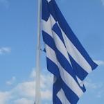 Greek Flag, (atop of the Acropolis) Athens, Greece, photo credit: Demetrios Kastaris, September, 2014.
