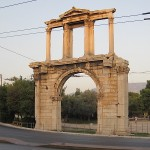 Arch of Hadrian, across the street from the ancient Temple of Olympian Zeus, Athens, Greece, photo credit: Demetrios Kastaris, September, 2014.